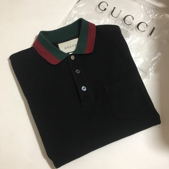 21d727dead9 Gucci Other - Gucci Polo Shirt Web Collar Medium Authentic